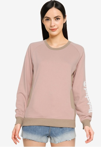 Timberland pink Sleeve Linear Logo Sweatshirt 3208DAAE3C91F2GS_1