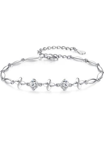 SUNRAIS silver High quality Silver S925 silver four-leaf clover bracelet 18DC5AC713F919GS_1