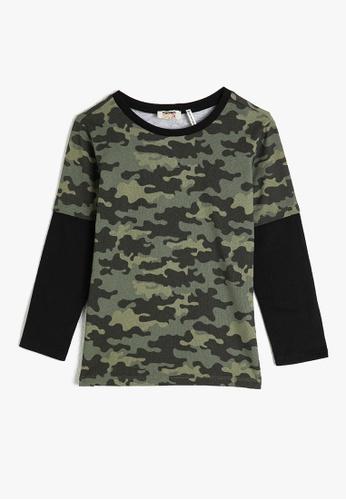 KOTON green Long Sleeve T-Shirt 9776DKAD9A35DCGS_1