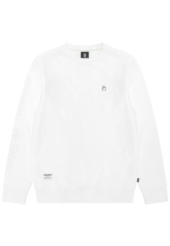 Fingercroxx white Bigfoot sweatshirt CAF6AAAE88BDA6GS_1