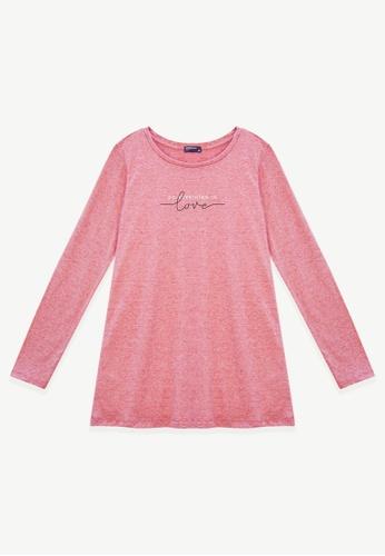 Cheetah pink Cheetah Ladies Long Sleeve Tee - CL-65356 F862EAA369C479GS_1