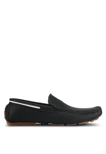 UniqTee black Pebbled Faux Leather Slip On 71AB5SH422EC6CGS_1
