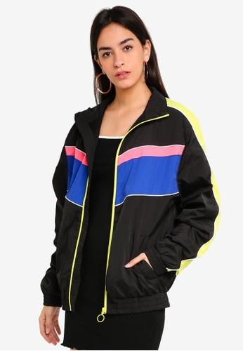 Factorie black and multi Splice Tracksuit Jacket BBF2CAAEAC7FC9GS_1