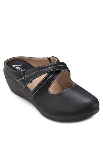 仿皮休閒楔形esprit 台北拖鞋, 女鞋, 楔形涼鞋