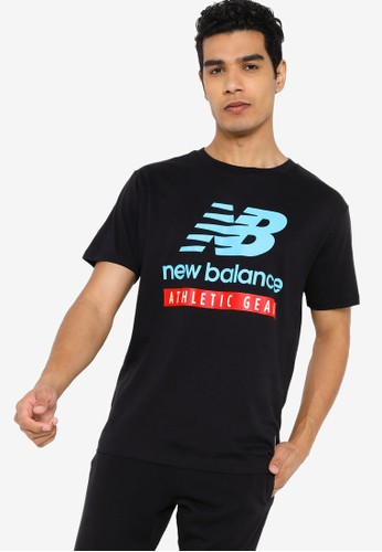 New Balance black Essentials Logo Tee E25F6AA5F97EF2GS_1