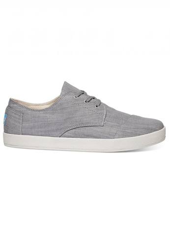 TOMS grey TOMS - Grey Denim V2 Paso Sneak MN BE329SH9B46111GS_1