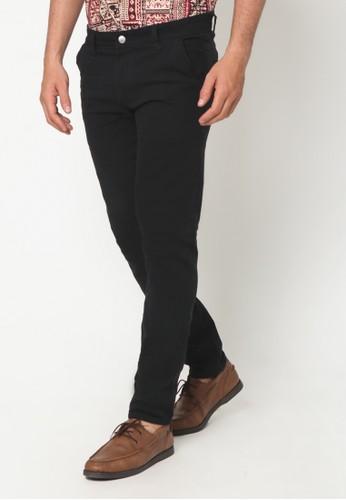 VENGOZ black Slim Fit Chino Black EF275AA0C68E35GS_1