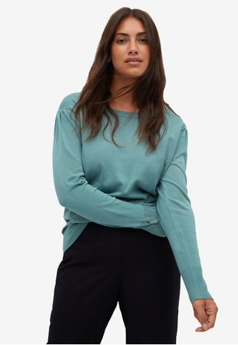 Violeta by MANGO green Plus Size Fine-Knit Sweater 76BCBAA3BCDF18GS_1