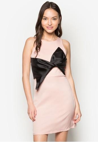 esprit官網Alicia 蝴蝶結無袖連身裙, 服飾, 洋裝