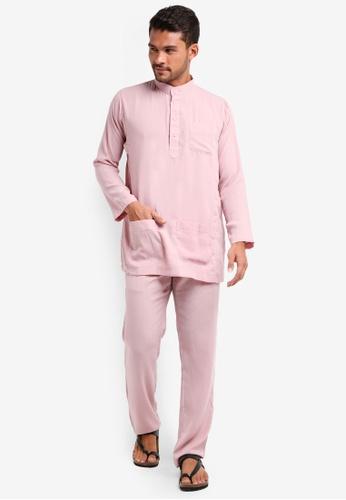 Lubna pink Baju Melayu Cekak Musang 7E8F2AAF0CB443GS_1