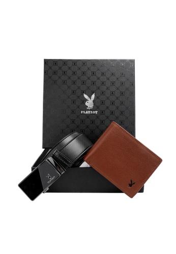 Playboy black and brown Playboy Gift Set Box 56F93AC7A1D308GS_1