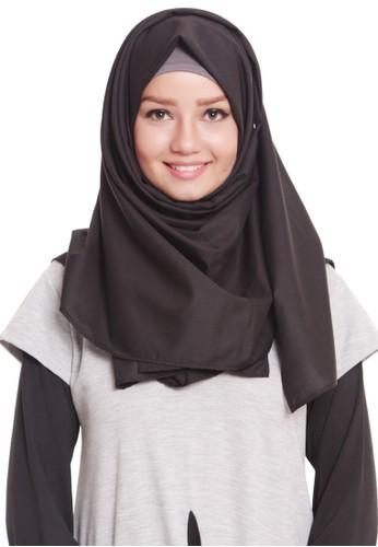 Mybamus Plain Pashmina Black