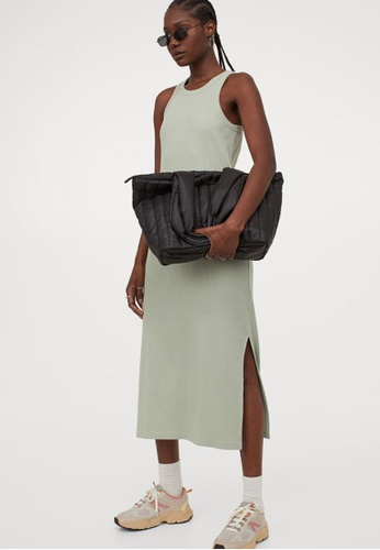 H&M green Sleeveless Dress D50D4AA85A7209GS_1