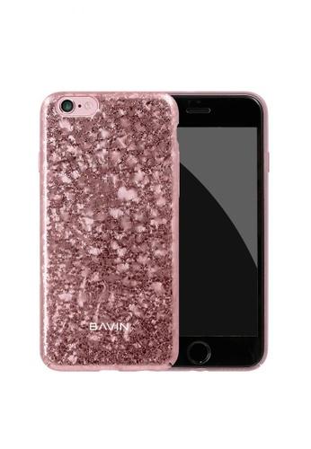 BAVIN pink Broken Glass Hard Case for iPhone 7 D01CCACE847805GS_1