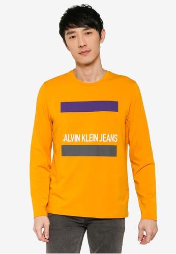 Calvin Klein 紅色 長袖Fashion LOGO修身T恤 - Calvin Klein 牛仔褲 382E1AAEDED25FGS_1