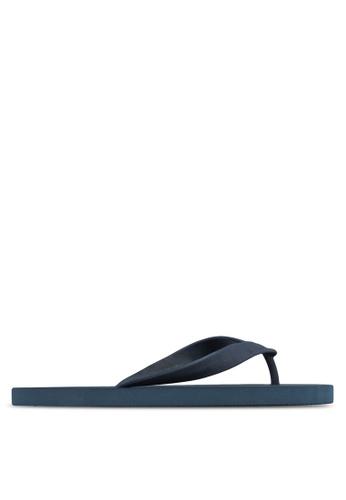 24:01 navy Rubber Flip Flops 24841SH16AVRPH_1