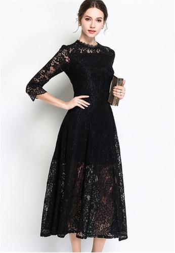 Buy Crystal Korea Fashion Spring New Slim Elegant Lace Dress Online