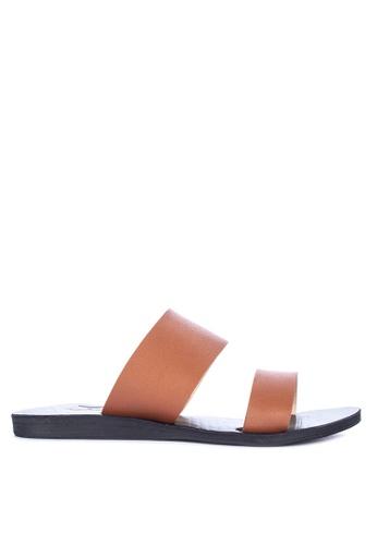 c8da2fee449 Shop Janylin Two Strap Sandals Flats Online on ZALORA Philippines