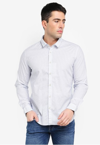 ESPRIT white Woven Long Sleeve Shirt E91F7AA10453CBGS_1