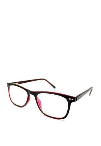 Peculiar and Odd red Peculiar Square Multicoated Eyeglass 2940 with Spring Hinges 65ED0GL9D61014GS_1