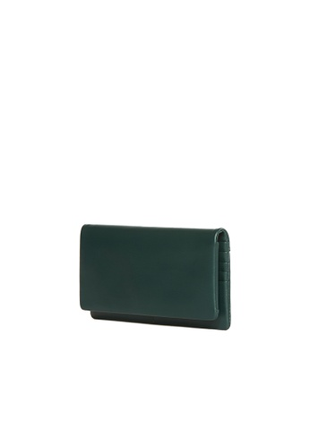 OBX green OBX Kale Leather Continental wallet 804F5AC6F2DF32GS_1