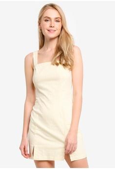 4fd7b1223648 FOREVER 21 white and multi Striped M-Slit Mini Dress EAB79AAE5F67AEGS_1