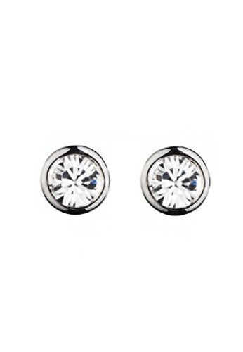 Sopistikada silver Hayley Silver-Plated Stud Earrings SO776AC24MYLPH_1