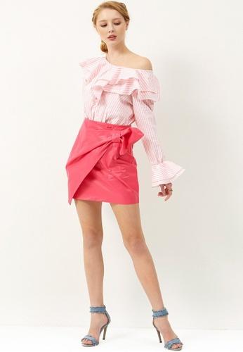 Storets pink Cordia Wrap Bow Skirt ST450AA0GIINSG_1
