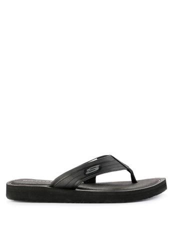 Skechers black Mens Sport Casual Sandal 38B21SH963E24AGS_1