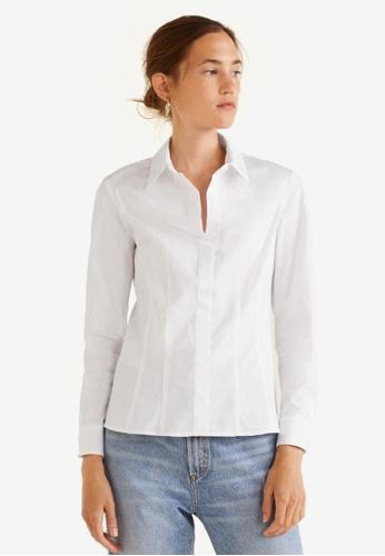 Mango white Cotton Shirt 0902DAA1A21520GS_1