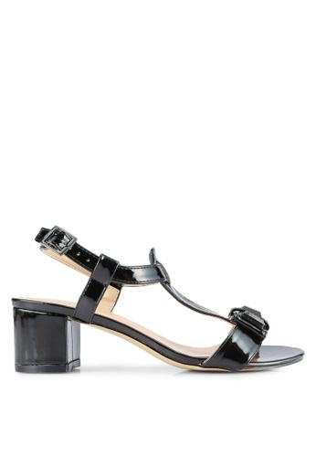 Nose black Patent Chunky Heel Sandals NO327SH0S6U2MY_1