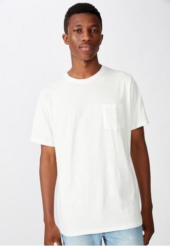 Cotton on white SLUB CREW NECK TEE DD94EAAD7974ECGS_1