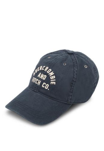 Abercrombie & Fitch navy Logo Cap AB423AC0SUZMMY_1