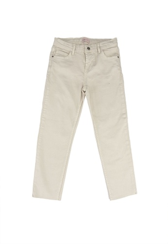 ONLY beige Emily Ecru Raw Edge Jeans B9FF5KAC4FB181GS_1