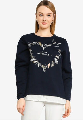 Springfield blue You Are What You Love Heart Sweatshirt 3F122AA9A8FD7AGS_1