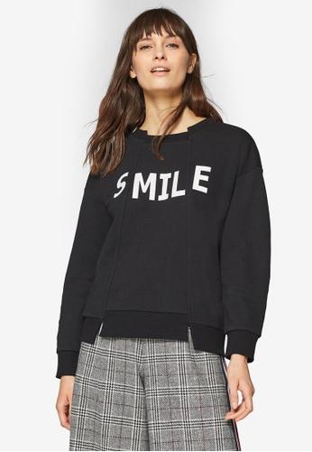 ESPRIT black Long Sleeve Sweatshirt 884DEAAA9ABD65GS_1
