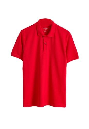 LC Waikiki red Short Sleeve Polo Shirt 7ADC4AA728EA59GS_1