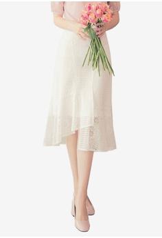 00d5ee2b2616 Yoco white Lace Mermaid Midi Skirt 5E006AA05199D6GS 1