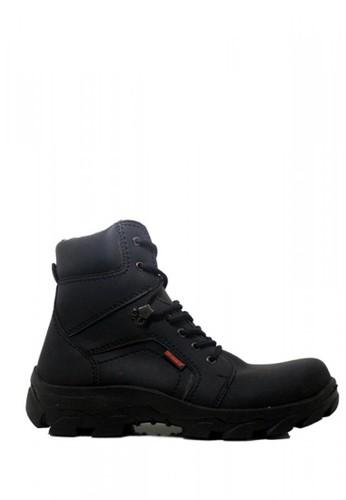 Cut Engineer black Cut Engineer Safety Boots Iron Fosil Leather Full Black 23DFBSHC625B90GS_1