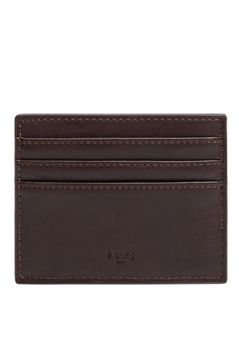 Mango Man brown Faux Leather Cardholder F53C5AC1889ABBGS_1