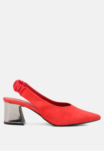 London Rag red Red Slingback Pumps with Metallic Heel 20150SHFFFEE3AGS_1