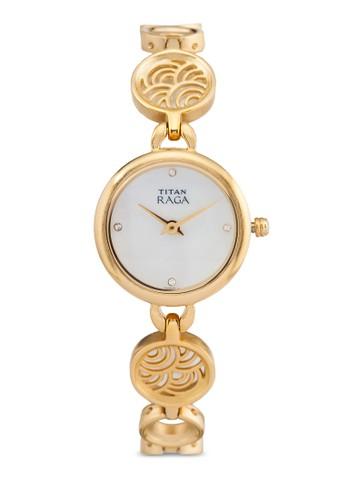 Titan  2512YM01 雙指針esprit 面試時尚鏈飾小圓錶, 錶類, 時尚型
