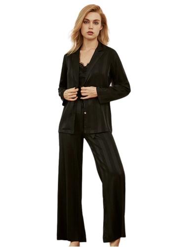 THE LOUNGE EDIT black Malara 3 Set Loungewear D5825AA2539C2FGS_1