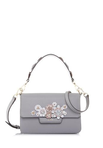 Bonia Grey Light Botanica Shoulder Bag S 481dcace478736gs 1