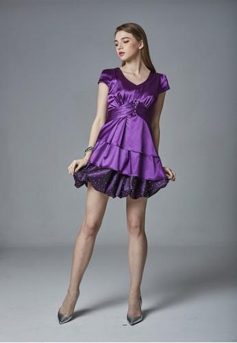緞面蛋糕花苞裙派對洋裝, 服飾, 派對洋esprit官網裝