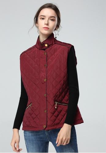 London Rag red London Rag Women Sleeveless Dark Red Jacket LO360AA0H63GSG_1