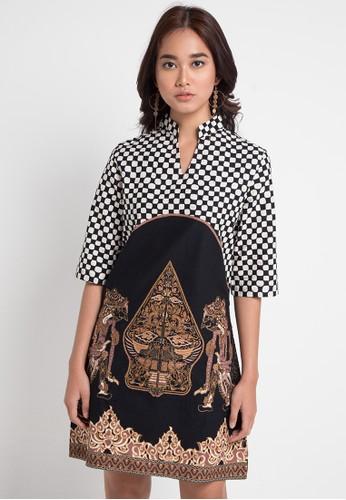 Vestiti black and white Wayang Bordir Dress 10632AA1F2463FGS 1 481496679f