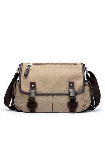 Lara beige Flap Buckle Messenger Bag - Beige 7D88BACC5B937CGS_1