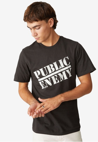 Cotton On black Tbar Collab Icon T-Shirt 1BE0EAA2348688GS_1