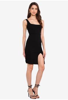 d33b0fd9d40f8 MISSGUIDED Square Neck Side Split Mini Dress HK$ 349.00. Sizes 6 8 10 12 14
